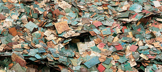 Circuit Boards for recycling in Guiyu, Guangdong Province, China. Photo by Edward Burtynsky